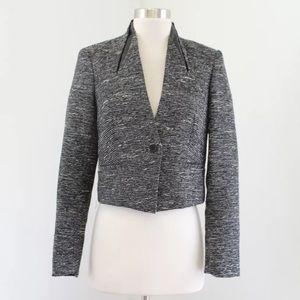 Vince Camuto Cropped Metallic Tweed Jacket
